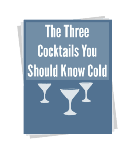 Three Cocktails Cheat Sheet