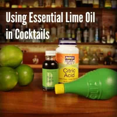 How does Citric acid and Lime Oil Compare to Real Limes in Cocktails?