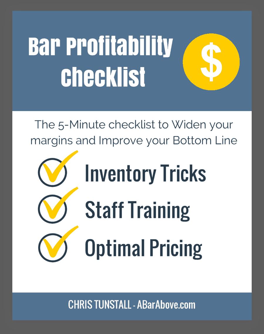 Bar Profitability Checklist