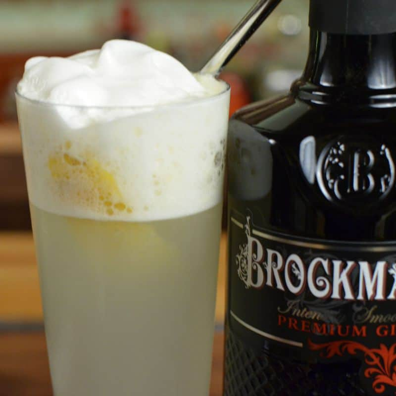 Gin Fizz with Celery Lime Foam Cocktail