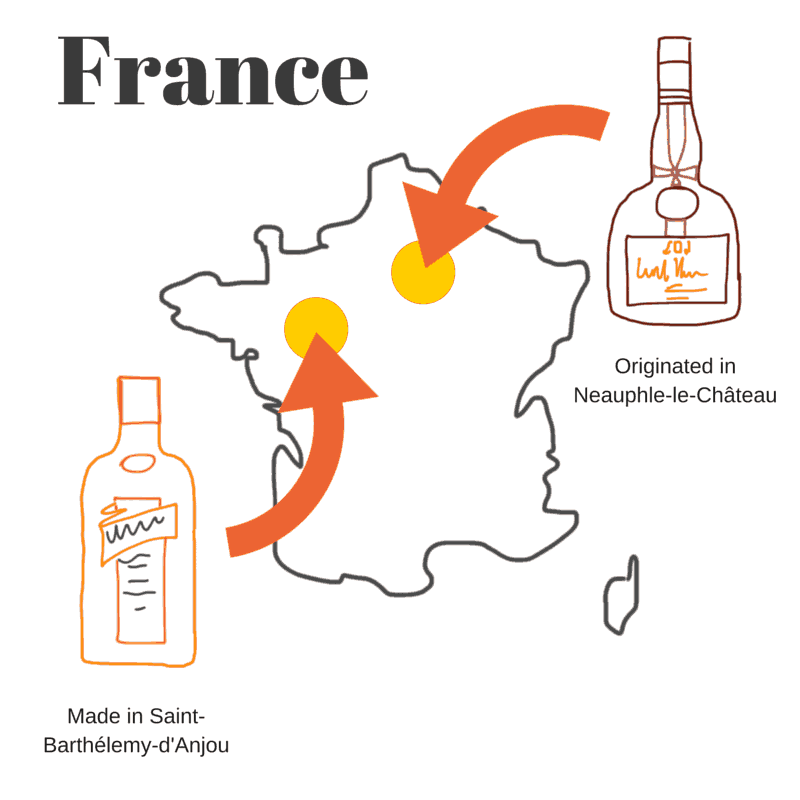 Geography of Cointreau and Grand Marnier