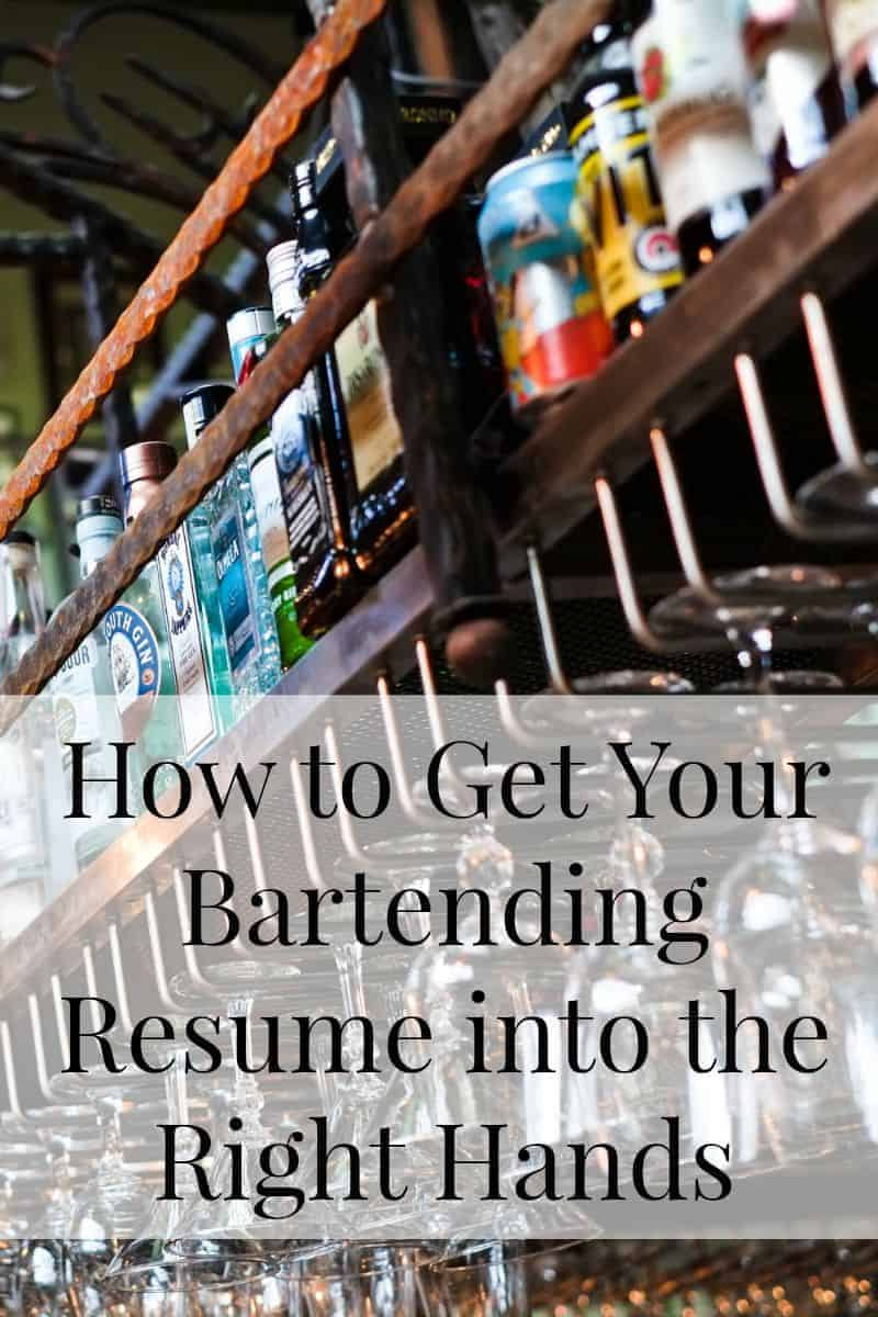 How to Get Your Bartending Resume into the Manager\'s Hands • A Bar ...