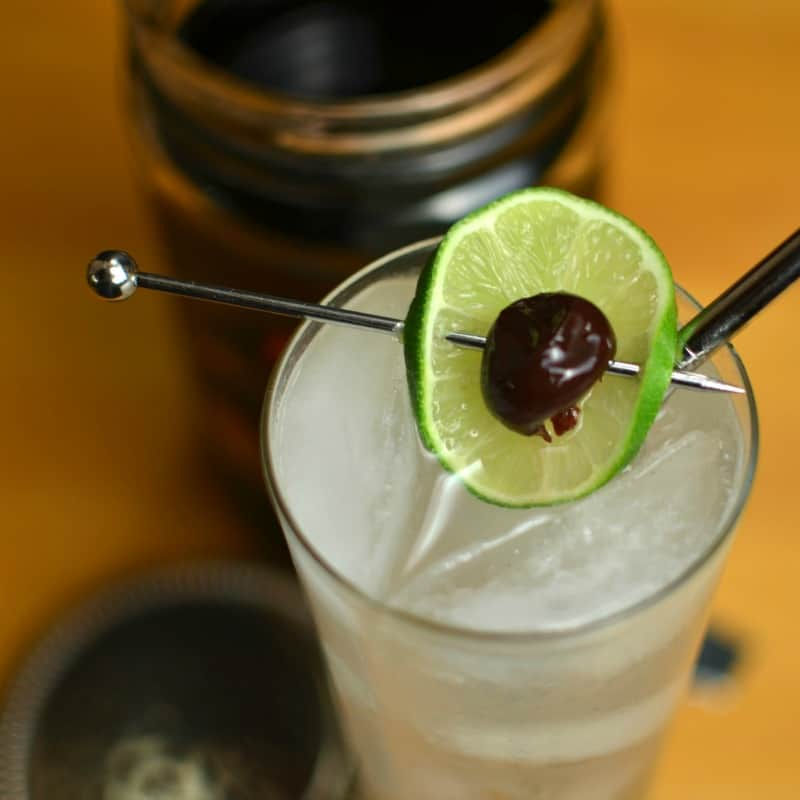 Rum and Lime Collins
