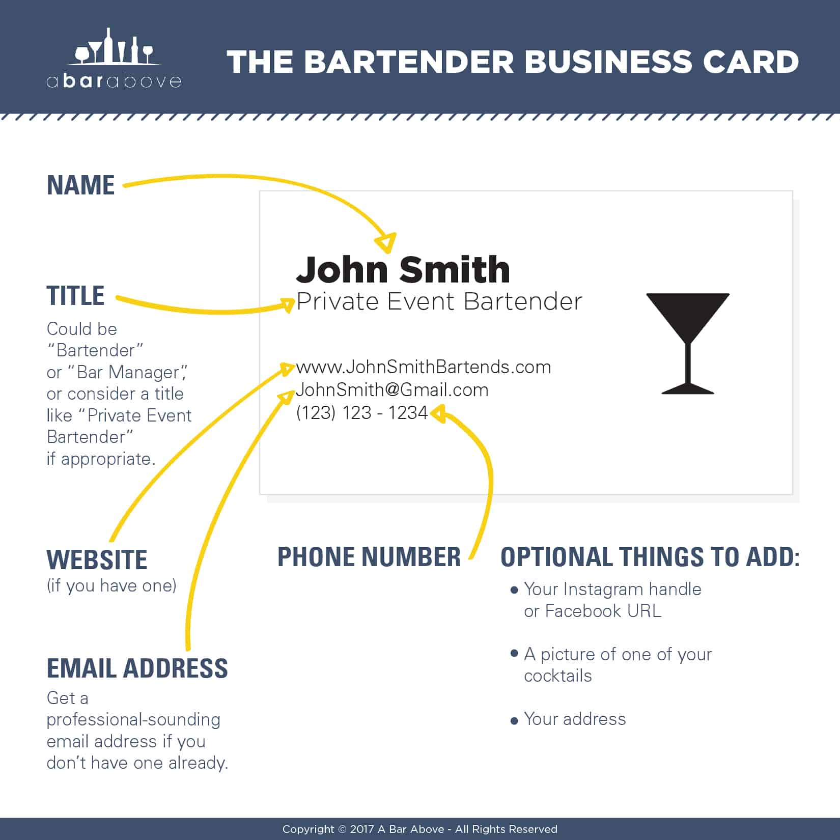 bartender business cards why you should have them and how to