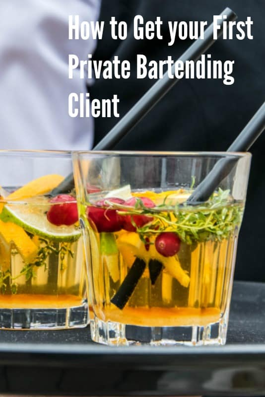 How to get your first Private Bartending Gig