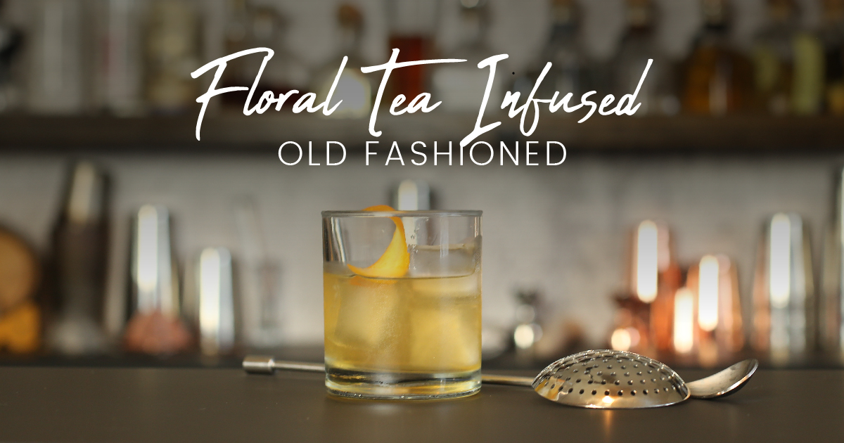 Floral Tea old Fashioned